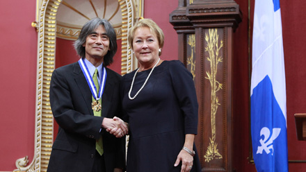 Maestro Kent Nagano, grand officier de l